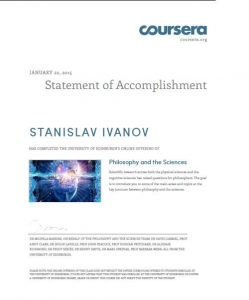Coursera-Philosophy of the Sciences